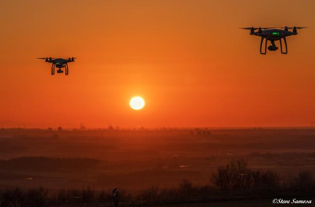 Billinge sunet by drone
