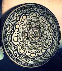henna on drum