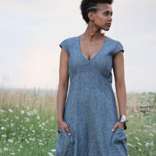 Hemp Garden Pocket Dress