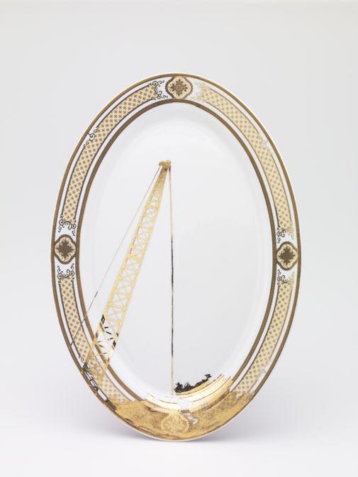 Crane on Gold Platter, 2007