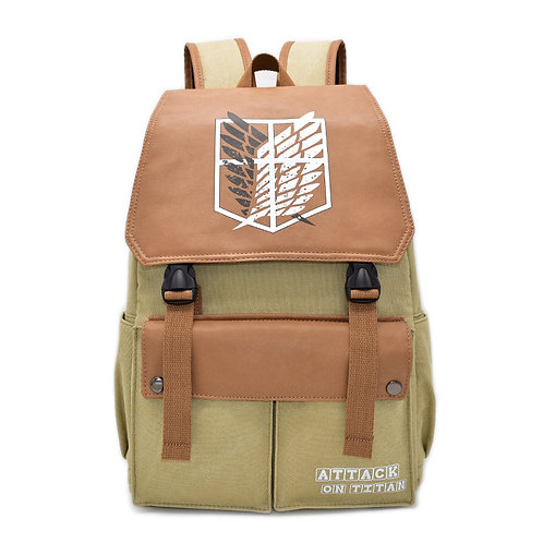 ATTACK ON TITAN - Canvas and PU Leather Backpack