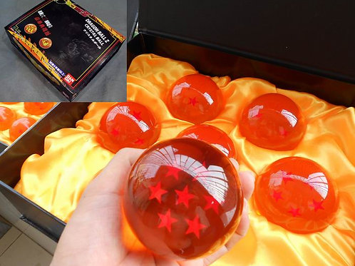 DRAGONBALL Z - SET OF DRAGON BALL  - 7.5CM DIAMETER