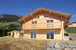 Chalet construction madrier