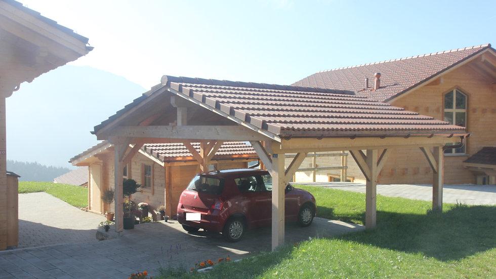 Abri voiture Montagnard 2 places