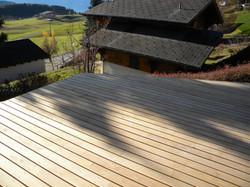 Plancher terrasse en mélèze