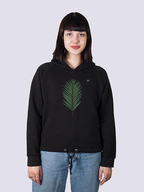 bio, bio Baumwolle, fair wear, fairtrade, nachhaltig, vis, vis wear, Hoodie, vegan, Frauen, cool, geschenkidee, Palme, Strand