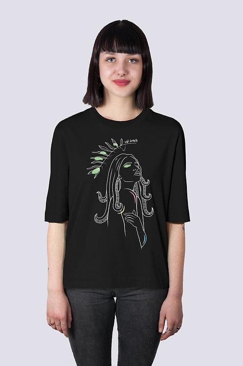 Shirt, t-shirt, bio Baumwolle, fairwear, nachhaltig, vis, vis wear, Frauen, vegane Mode, Klamotten, Goettin, Frauen power