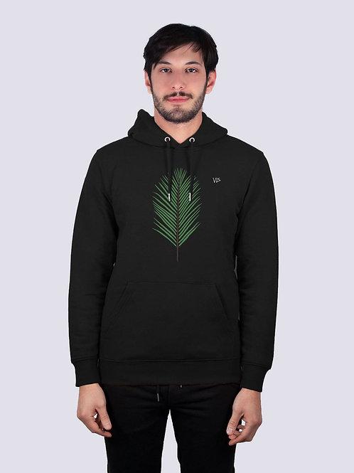 bio hoodie, bio Baumwolle, fair wear, fairtrade, nachhaltig, vis, vis wear, Hoodie, vegan, vegan mode, Unisex Pullover, Palme