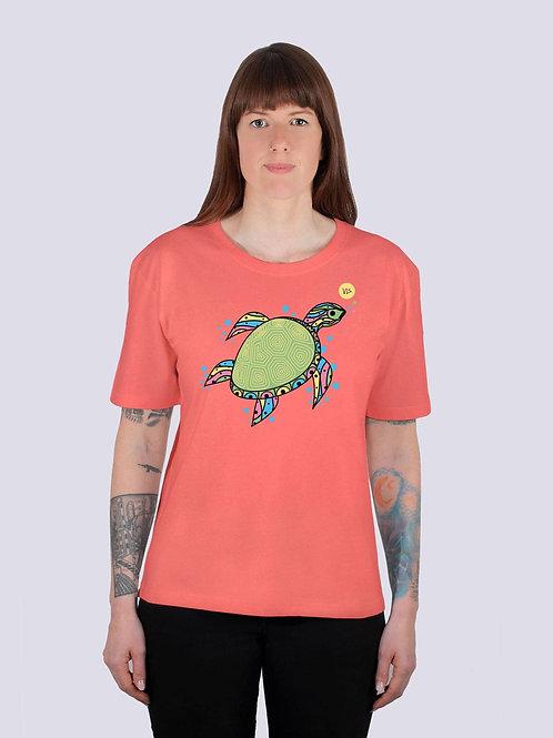 Shirt, t-shirt, bio, bio Baumwolle, fairwear, fairtrade, nachhaltig, vis, vis wear, Frauen, vegan, geschenkidee, Schildkröte