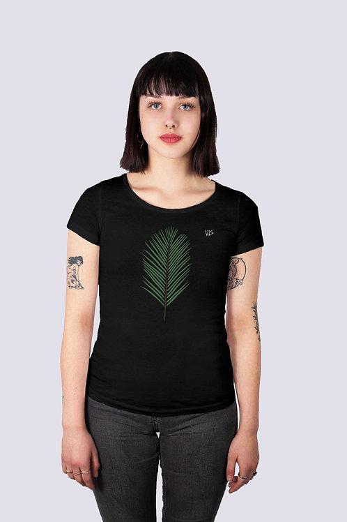Shirt, t-shirt, bio, bio Baumwolle, fairwear, fairtrade, nachhaltig, vis, vis wear, Frauen, vegan, Palme, Meer, Strand