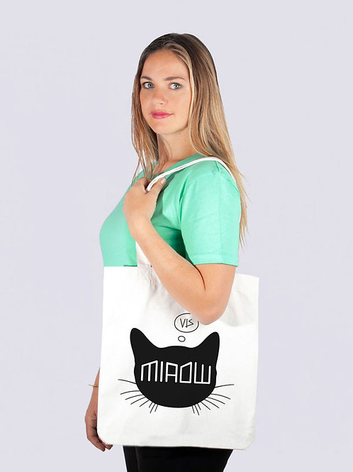 Tasche, Jutebeutel, fairwear, fairtrade, Nachhaltig, Beutel, Stofftaschen, cool, Meer, Geschenkide, Qualle, Meer, Katze, cat