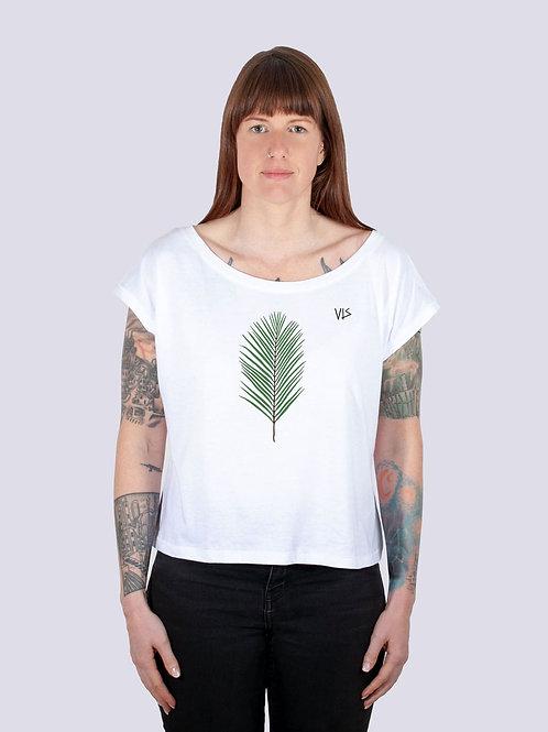 shirt, bio, bio Baumwolle, fairwear, fairtrade, nachhaltig, vis, vis wear, shirt, surf, Frauen, t-shirt, Palme, Strand