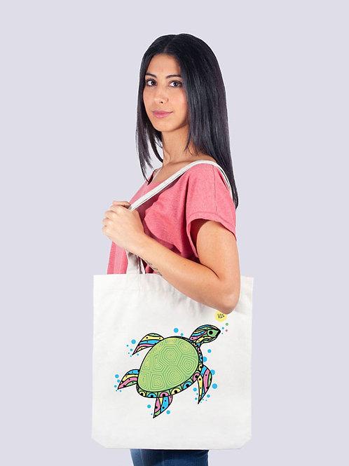 Tasche, Jutebeutel, fairwear, fairtrade, Nachhaltig, Beutel, Stofftaschen, cool, Rochen Meer, Geschenkide, Schildkröte, Meer