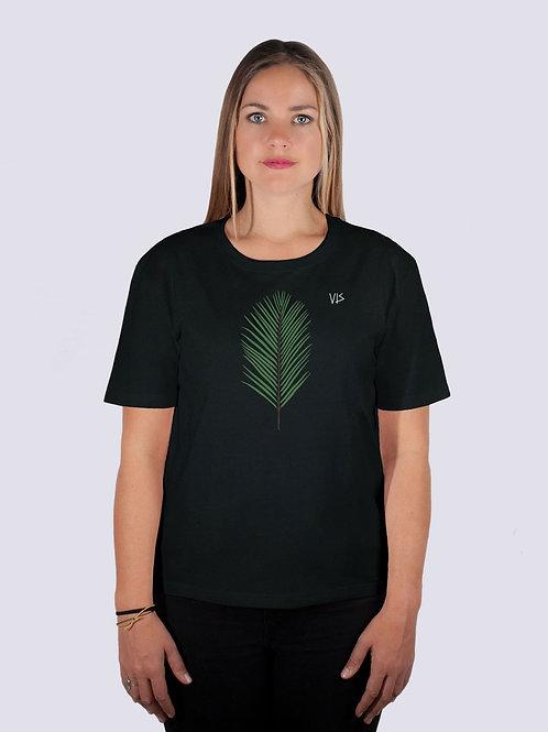 Shirt, t-shirt, bio, bio Baumwolle, fairwear, fairtrade, nachhaltig, vis, vis wear, Frauen, vegan, Palme, Strand, beach