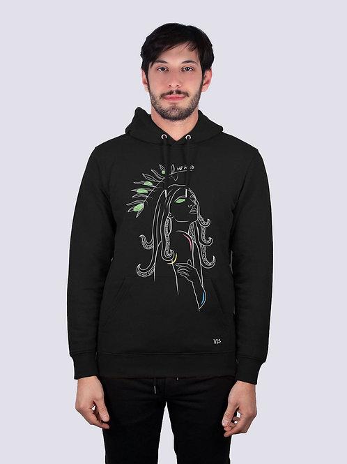 bio hoodie, bio Baumwolle, fair wear, fairtrade, nachhaltig, vis, vis wear, Hoodie, vegan, vegan mode, Unisex Pullover, cool,