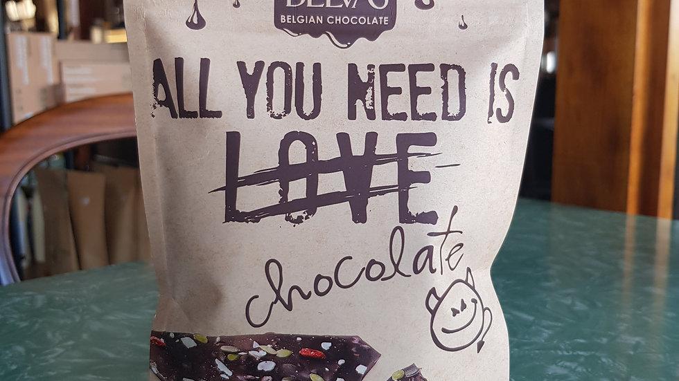 All you need is Chocolate Belvas - Quinoa & Goji 120G