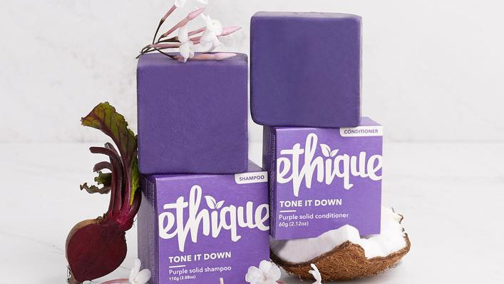 Tone it Down - Purple solid shampoo & conditioner duo - Ethique