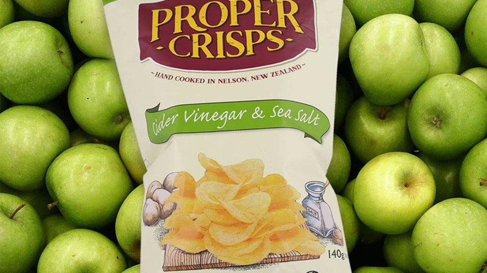 Cider Vinegar Proper Crisps 140G