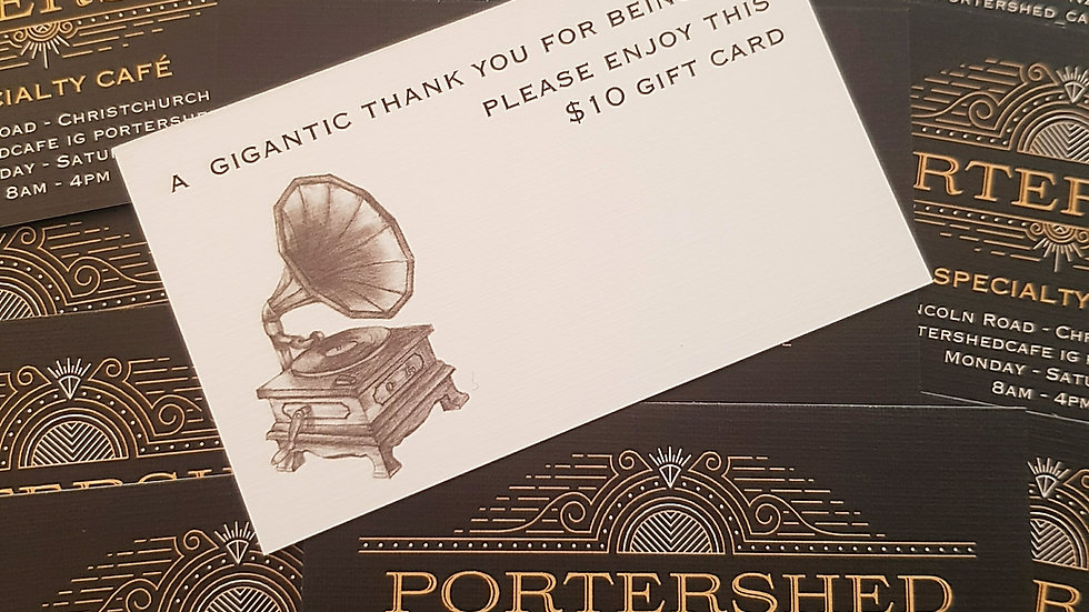 PORTERSHED Gift Cards