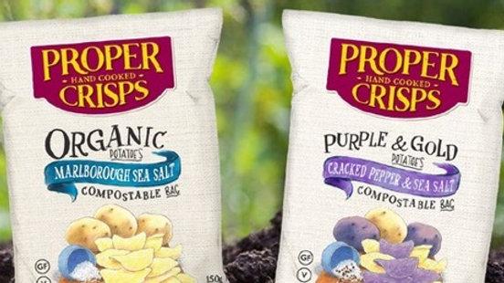 Proper Crisps Sea Salt Range - Compostable