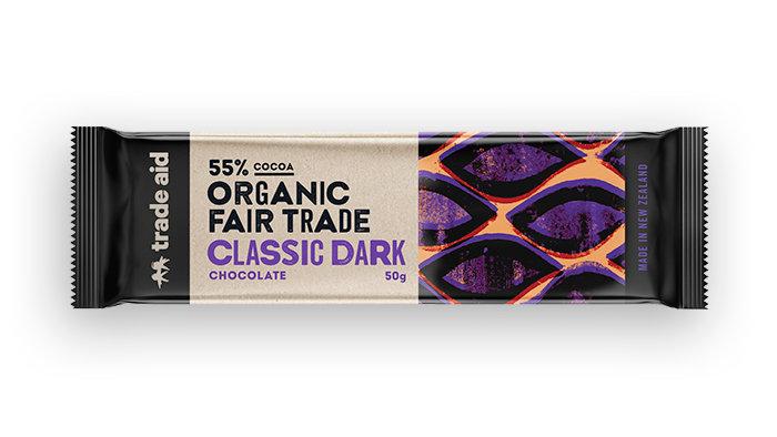 Organic 55% Classic Dark Chocolate – Trade Aid 50G