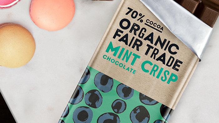 Organic 55% Mint Crisp Chocolate – Trade Aid 100G
