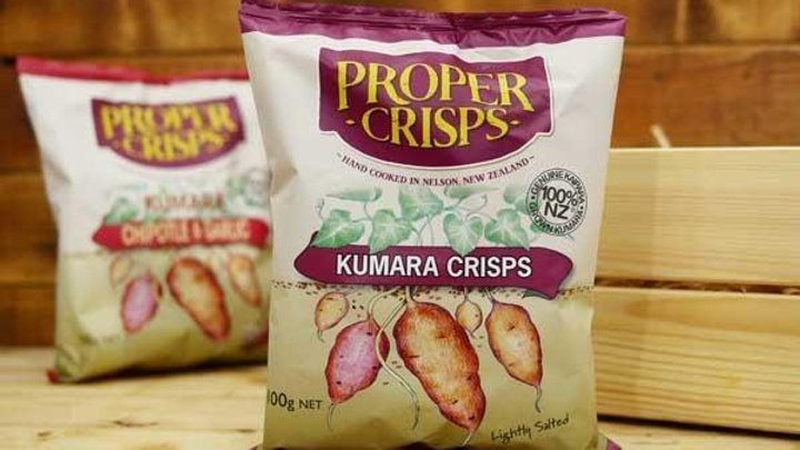 Kumara Pepper & Onion Crisps 100g