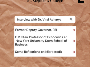 Interview with Dr. Viral Acharya