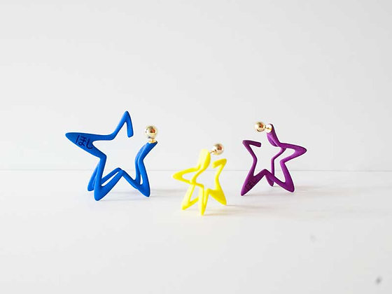 3Dstar Earring