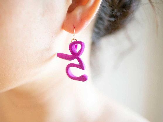 3D Hiragana Earrings Large