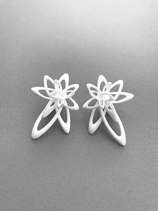 Lattice Earrings_ White