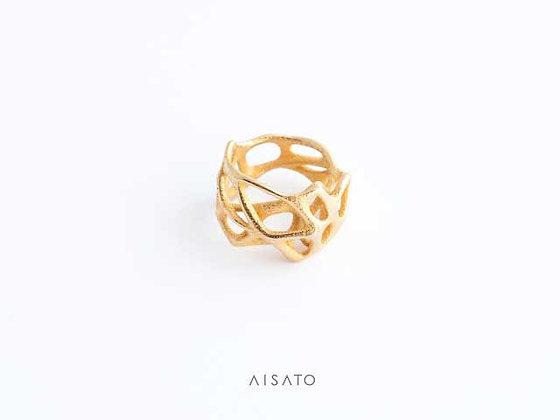 Voronoi Ring Gold,Silver,or Black