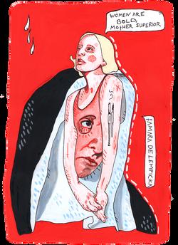 de lempicka mother superior Illustration art der kreisende pfeil sandra albrecht