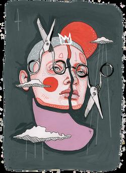 scissors Illustration art der kreisende pfeil sandra albrecht