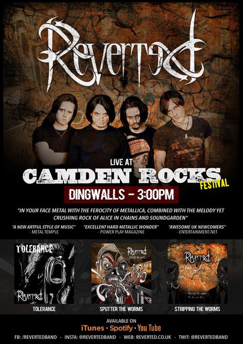 Reverted confirmed for Camden Rocks 2017