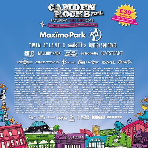 Camden Rocks, we're coming!