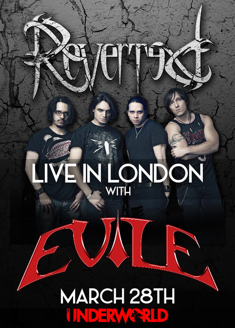 Reverted to support Evile this March!
