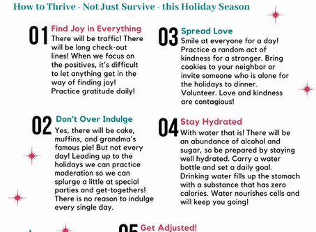 Holiday Thrive Guide and Holiday Office Hours