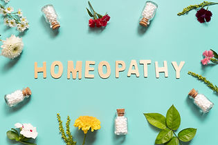 Homeopathy wooden text with homeopathic