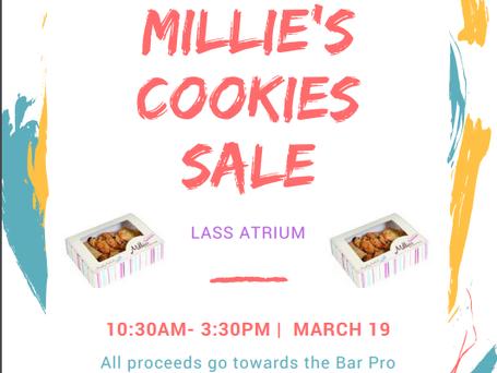 A successful Milie's Cookie Sale for the Bar Pro Bono Unit