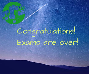Congratulations on finishing your exams!