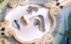 moon,majolica CeramicarteOrvieto workshop crafts ceramics
