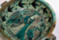 catino medioevale orvietano - maiolica ceramica artstica Orvieto