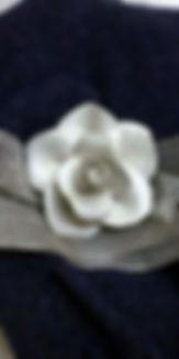 rosa - collana - ceramica artistica Orvieto