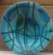 tulip, plate. majolica CeramicarteOrvieto workshop crafts