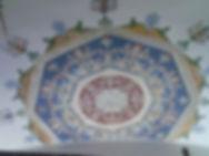 restoration decoration on the ceiling, Orvieto CeramcarteOrvieto workshop