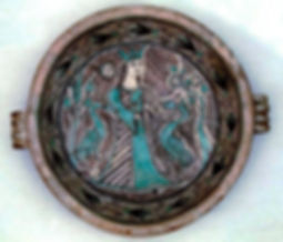 Orvieto basin, archaic  majolicaXIV century, collection Imbert- Sao Paulo Brazil