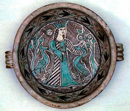 Orvieto Catino, maiolica arcaica Orvieto sec XIV Collezione Imbert, San Paolo del Brasile