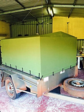 Canvas trailer cover
