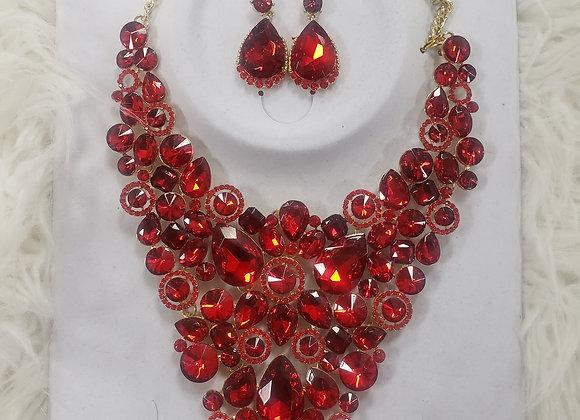Red Vine Necklace Seta